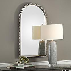 "Uttermost Sherise Brushed Nickel 22 1/2"" x 41"" Wall Mirror"