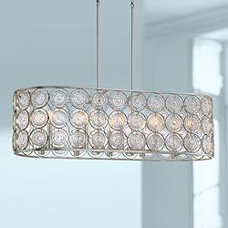 "Culture Chic 40 1/2""W Silver Kitchen Island Light Pendant"