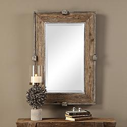 "Uttermost Siringo Natural 25 1/4"" x 37 1/4"" Wall Mirror"