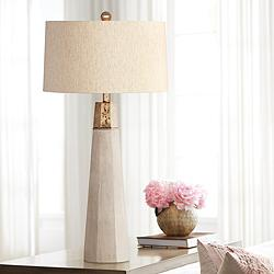 Rowan Natural Cement Table Lamp