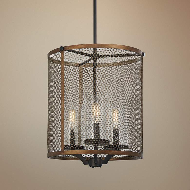 "Marsden Commons 14""W Smoked Iron and Gold 3-Light"