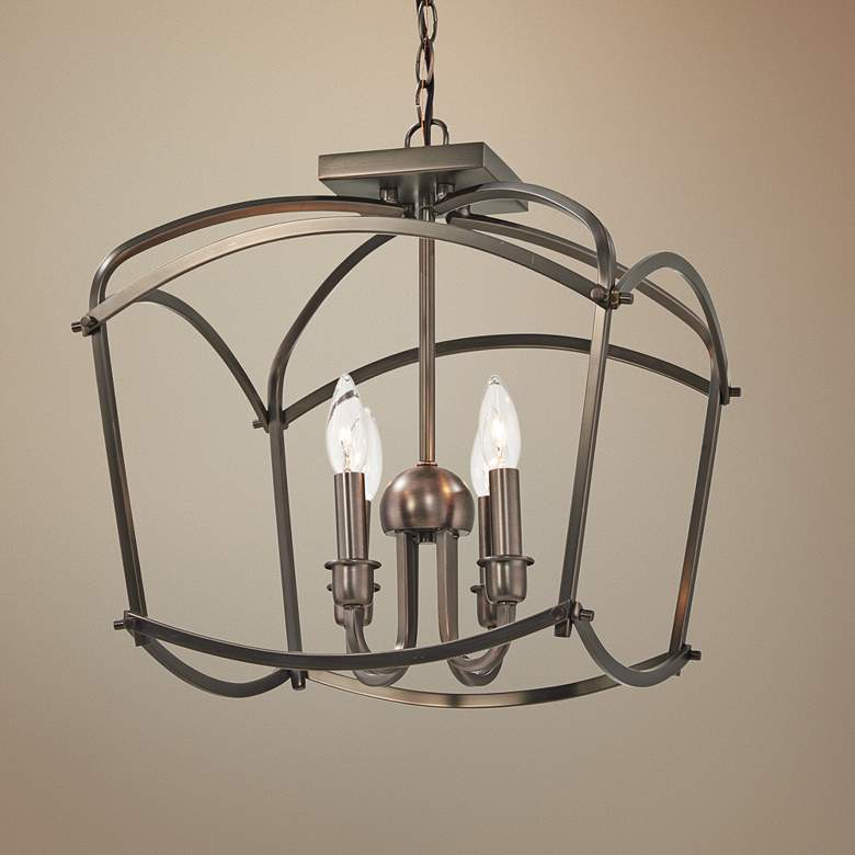 "Jupiter's Canopy 16""W Harvard Court Bronze 4-Light Pendant"