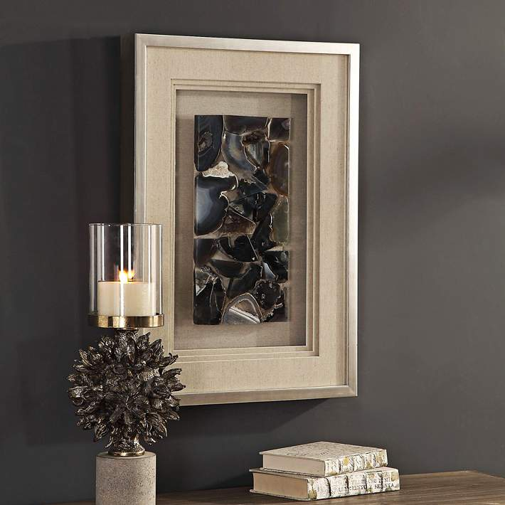 Uttermost Seana Agate Stones 27 1 2 H Shadow Box Wall Art 58n36