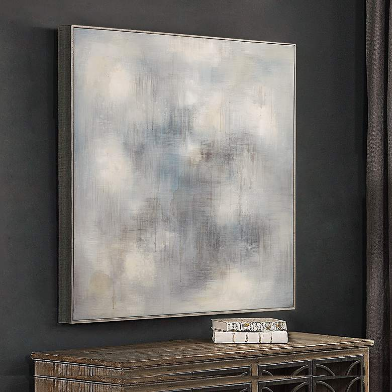 "Uttermost Foggy 36 3/4"" Square Framed Canvas Wall Art"
