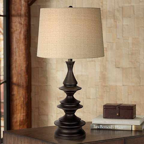 Adolfo Matte Black Metal Table Lamps