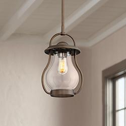 "Costa 9 1/4"" Wide Oil-Rubbed Bronze Mini Pendant"