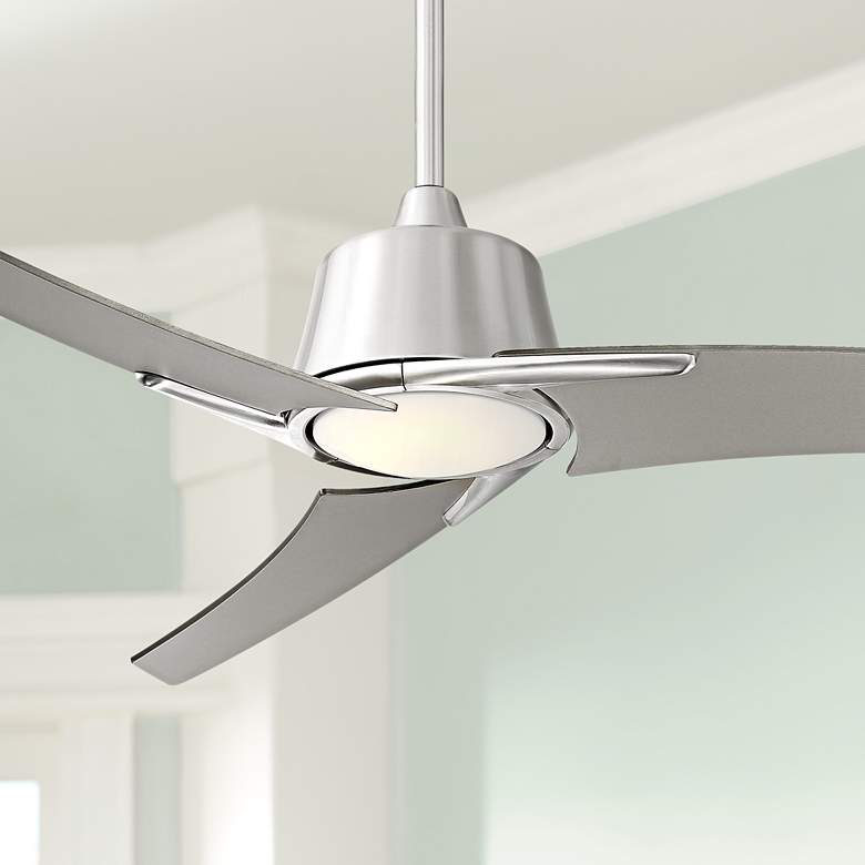 48 Casa Vieja 174 Matrix Led Brushed Nickel Ceiling Fan