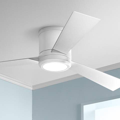 "52"" Monte Carlo Clarity Matte White Hugger LED Ceiling Fan"