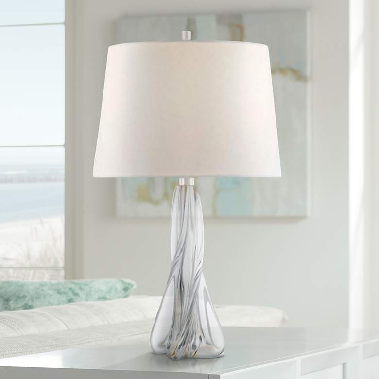 Hudson Valley Archer Clear Crystal Accent Table Lamp