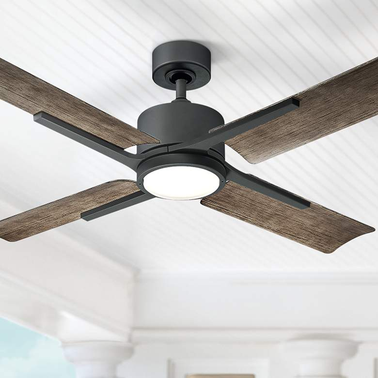 "56"" Modern Forms Cervantes Graphite LED Outdoor Ceiling Fan"