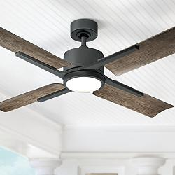 "56"" Modern Forms Cervantes Graphite LED Wet Ceiling Fan"