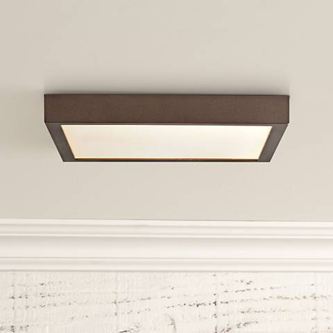 "Ulko Exterior 9"" Wide Bronze LED Outdoor Ceiling Light"