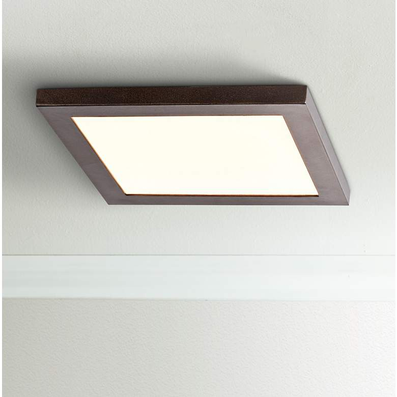 "Boxer 7 1/2"" Wide Bronze LED Ceiling Light"