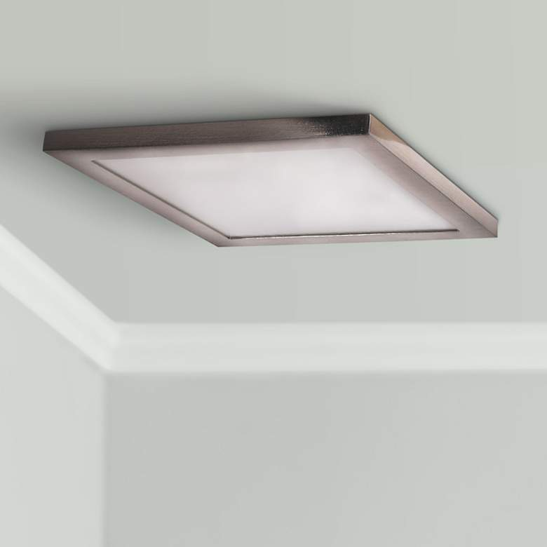 "Boxer 9 1/2"" Wide Brushed Steel LED Ceiling"