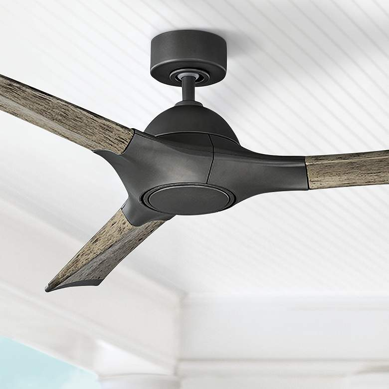 "60"" Modern Forms Woody Graphite LED Wet Ceiling Fan"