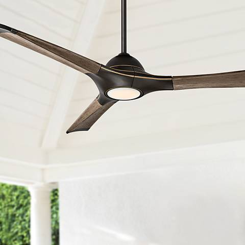"60"" Woody Oil Rubbed Bronze LED Outdoor Ceiling Fan"
