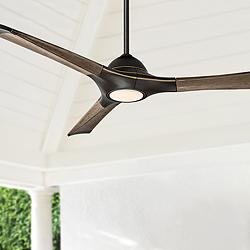 "60"" Modern Forms Woody Bronze LED Wet Ceiling Fan"
