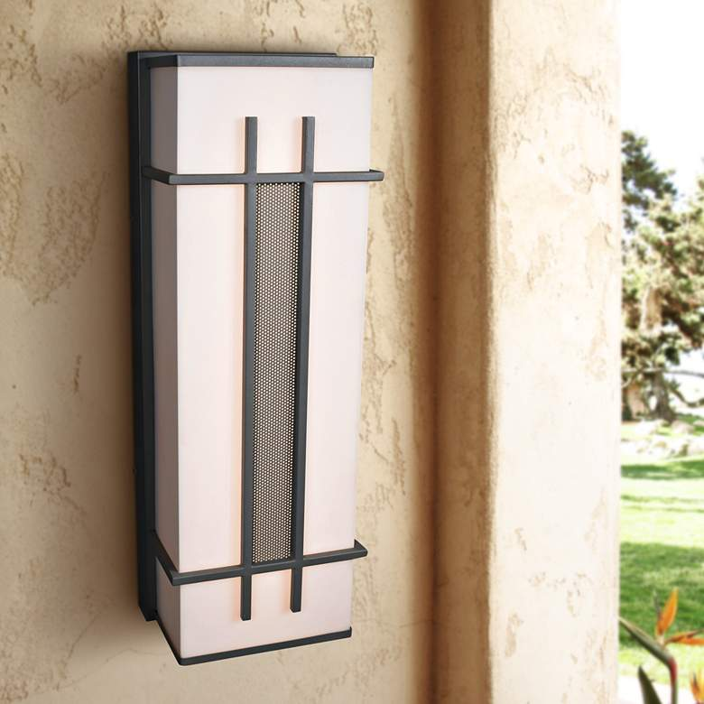 "Tuxedo 36"" High Satin LED Outdoor Wall Light"