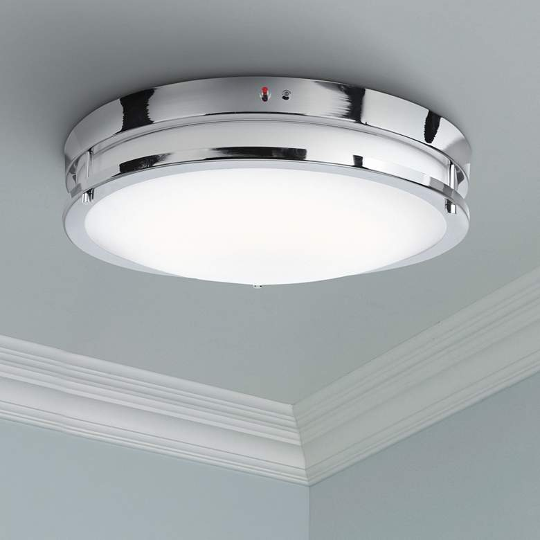 "Solero 18"" Wide Chrome LED Ceiling Light"