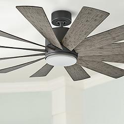 "60"" Modern Forms Windflower Graphite LED Wet Ceiling Fan"