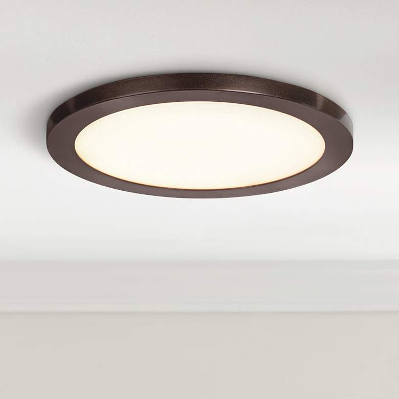 "Disc 7 1/2"" Wide Bronze Round LED Ceiling Light"