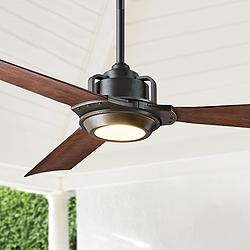 "56"" Modern Forms Osprey Bronze Wet LED Ceiling Fan"