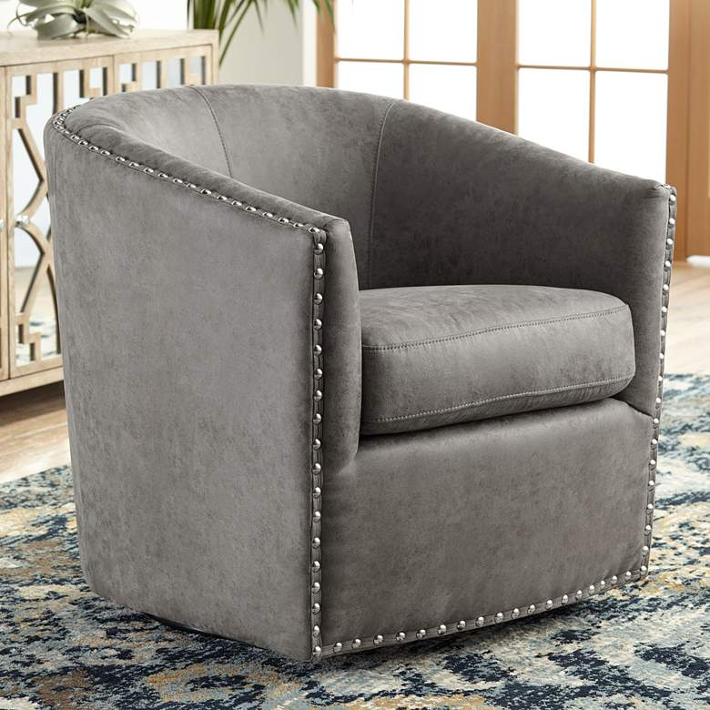 Elements Fullerton Gray Swivel Chair