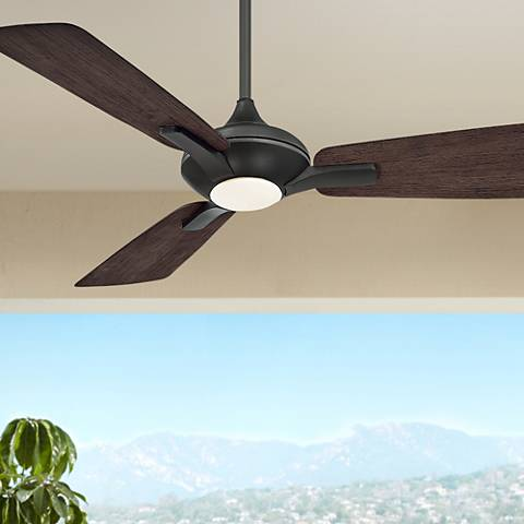 "52"" Modern Forms Mykonos Bronze LED Outdoor Ceiling Fan"