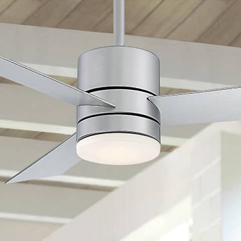 "52"" Modern Forms Axis Silver LED Outdoor Ceiling Fan"