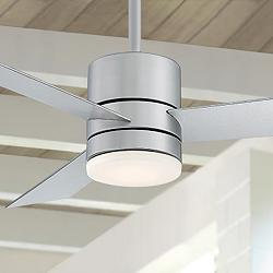 "52"" Modern Forms Axis Silver LED Wet Ceiling Fan"