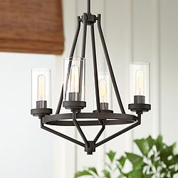 "Kane 18 1/2"" Wide Bronze 4-Light Chandelier"