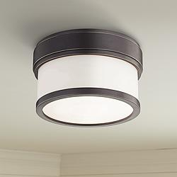 "Hudson Valley Gemma 5"" Wide Old Bronze LED Ceiling Light"