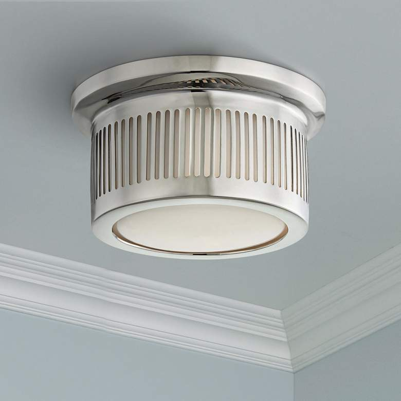 "Hudson Valley Bangor 6""W Polished Nickel LED Ceiling Light"