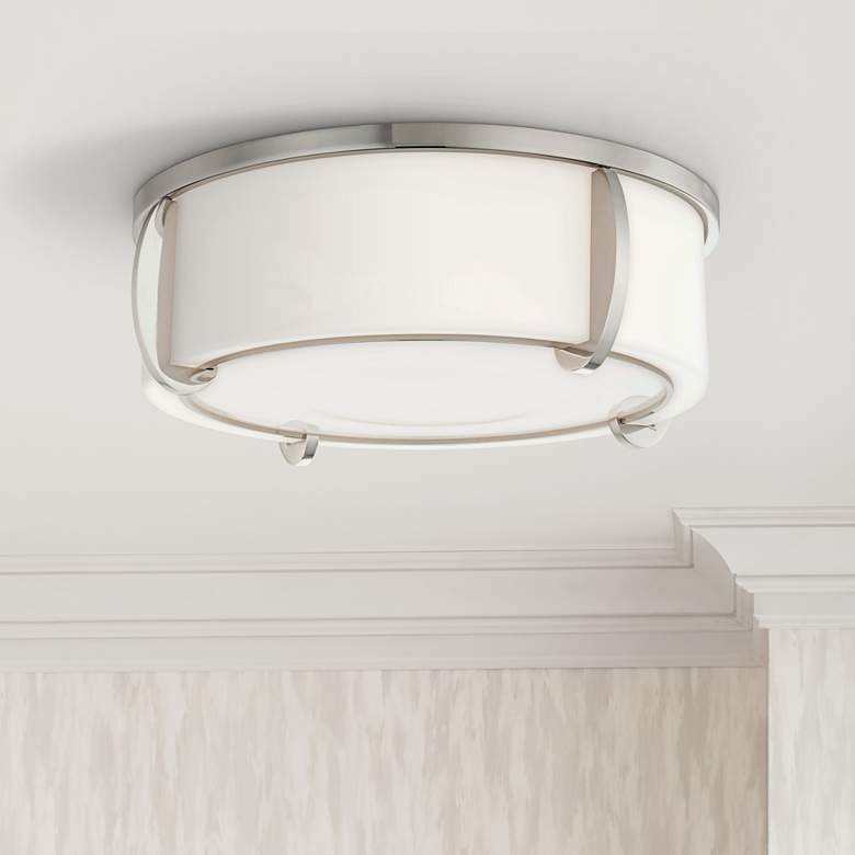 "Hudson Valley Talon 15 1/2""W Polished Nickel Ceiling"