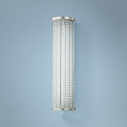 "Hudson Valley Shelby 25""H Polished Nickel LED Wall Sconce"