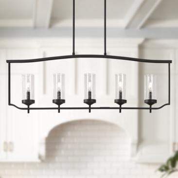 "Elyton 42 1/2"" Wide Downtown Bronze 5-Light Island Pendant"