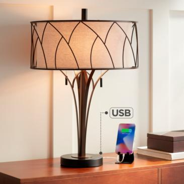 Sydney Modern Table Lamp with USB port