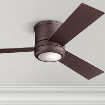 "56"" Clarity Max Roman Bronze LED Damp Hugger Ceiling Fan"
