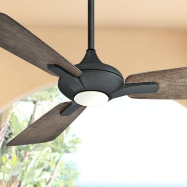 "52"" Modern Forms Mykonos Graphite LED Wet Ceiling Fan"