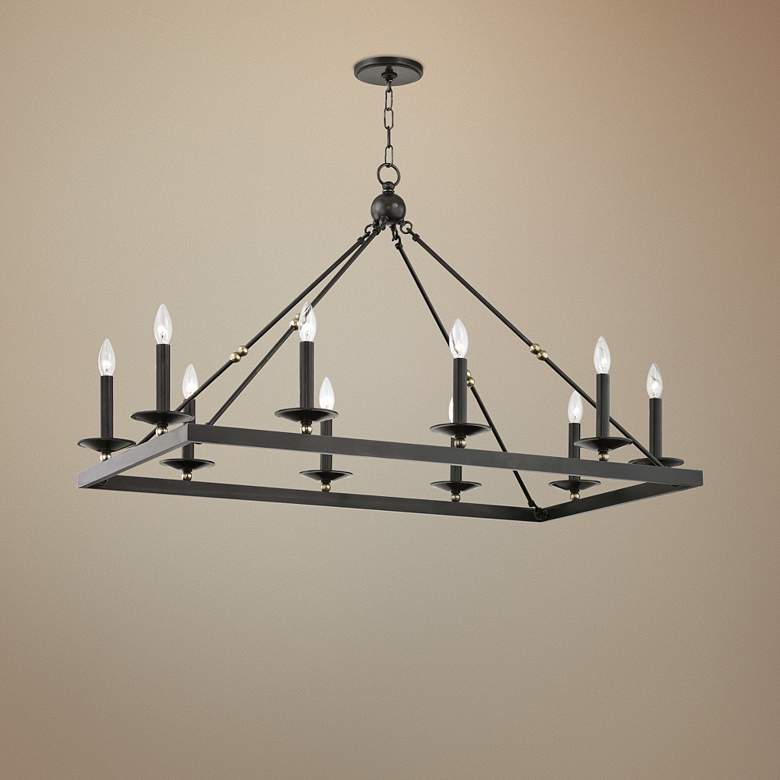 Hudson Valley Allendale 40 3 4 W Bronze 10 Light Chandelier