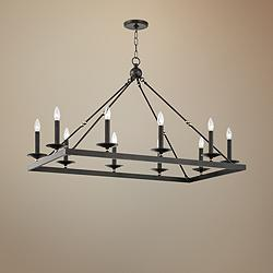 "Hudson Valley Allendale 40 3/4""W Bronze 10-Light Chandelier"
