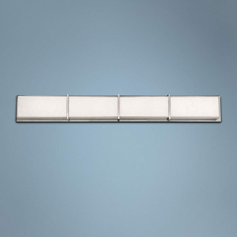 "Modern Forms Bahn 38"" Wide Brushed Nickel LED"
