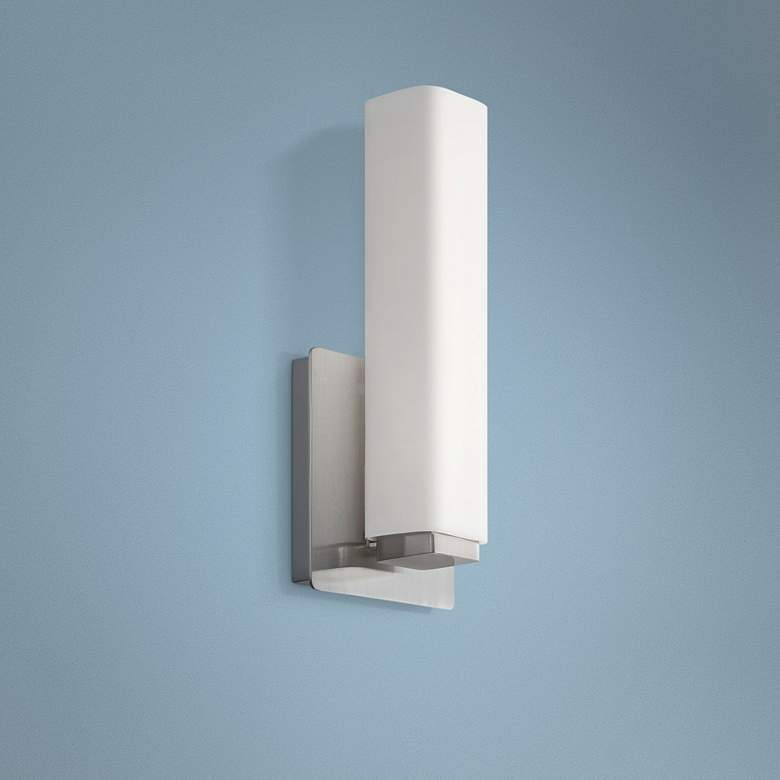 "Modern Forms Vogue 11"" High Brushed Nickel LED Wall Sconce"