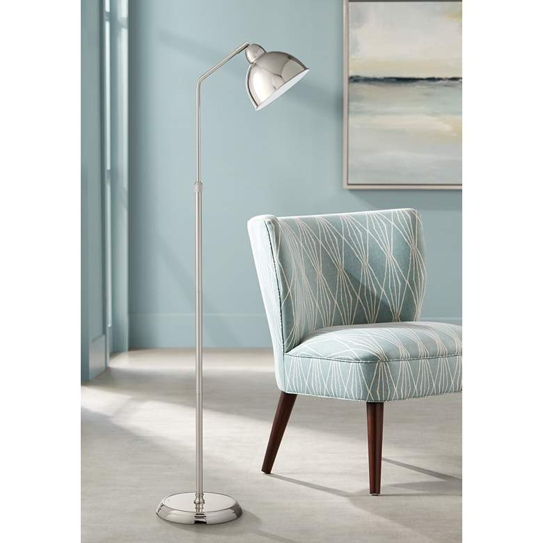 OttLite Covington Brushed Nickel Adjustable LED Floor Lamp