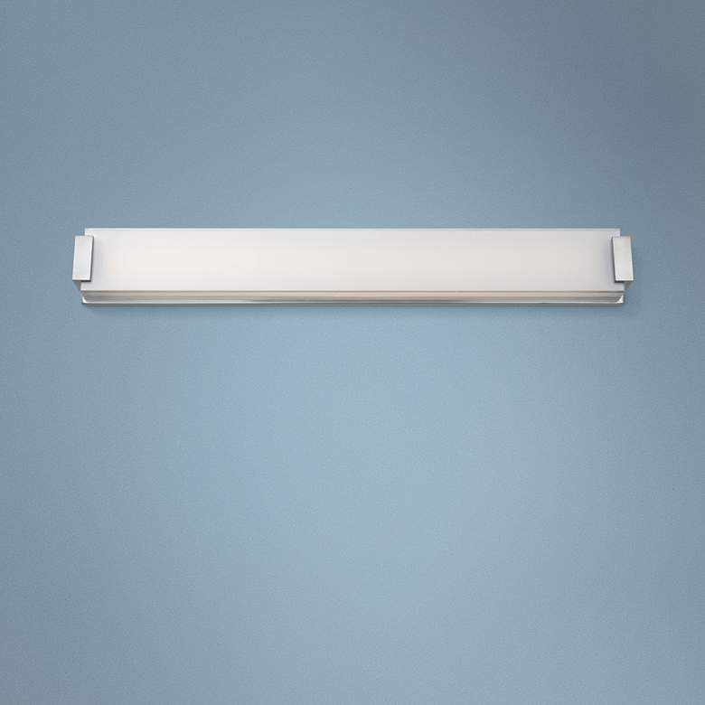 "Modern Forms Polar 40"" Wide Brushed Nickel LED Bath Light"