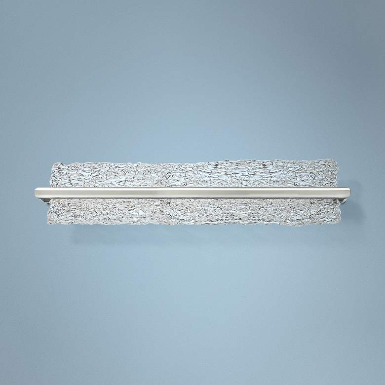 "Modern Forms Vetri 27"" Wide Brushed Aluminum LED Bath Light"
