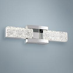 "Sofia 19"" Wide Polished Nickel 2-Light LED Bath Light"