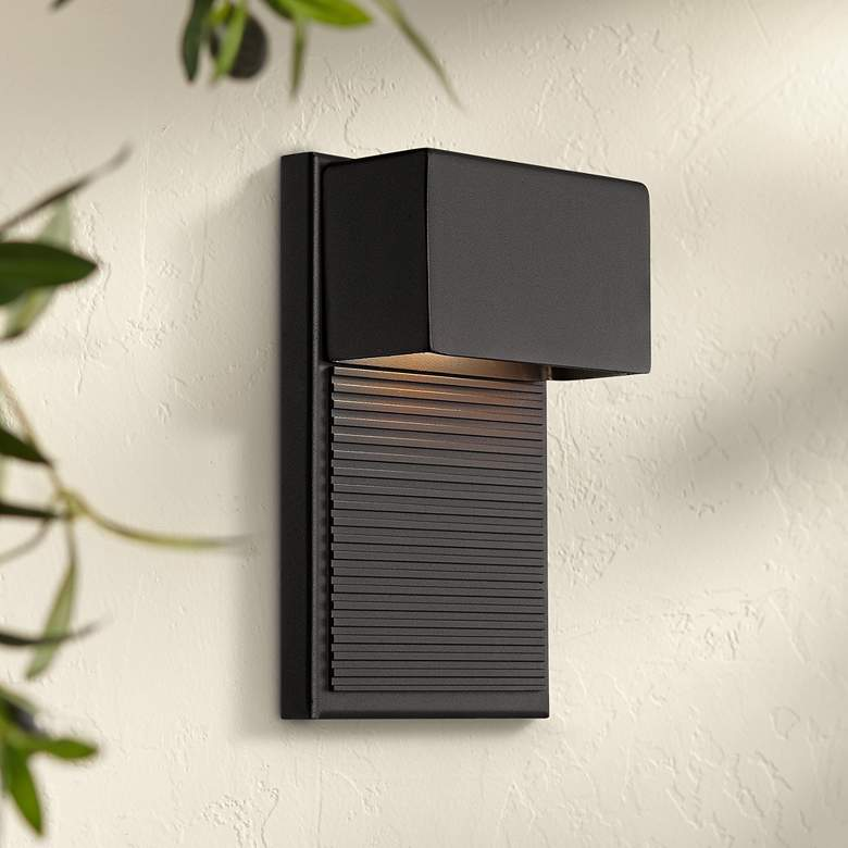 "Modern Forms Hiline 8"" High Black LED Outdoor"