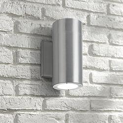 "Vessel 7 1/2"" High Brushed Aluminum LED Outdoor Wall Light"