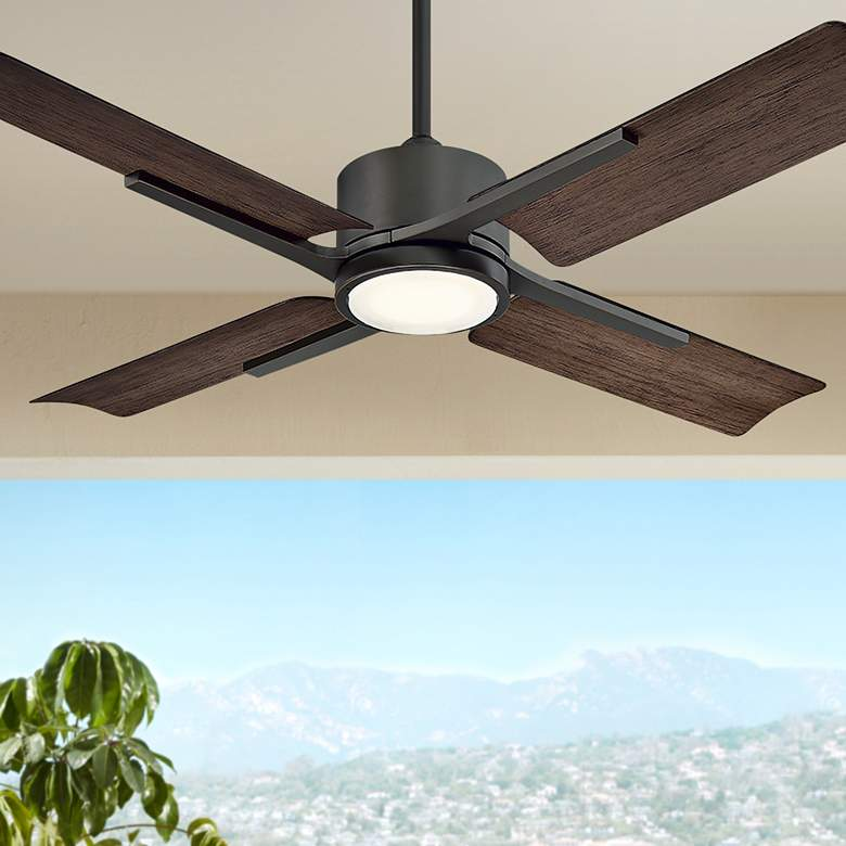 "56"" Modern Forms Cervantes Bronze LED Wet Ceiling Fan"